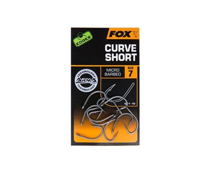 Куки FOX EDGES Curve Short, 10 бр. | www.CARPMOJO.com