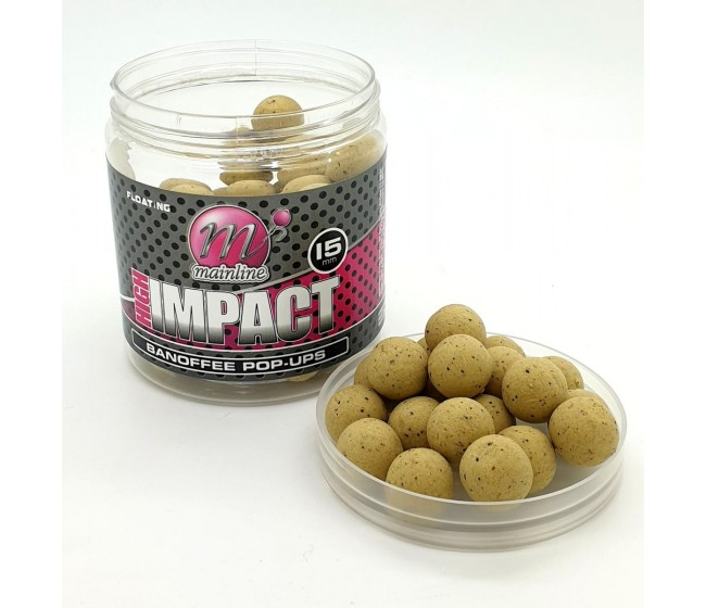 Плуващи топчета MAINLINE High Impact Pop Ups - Banoffee 15mm | www.CARPMOJO.com