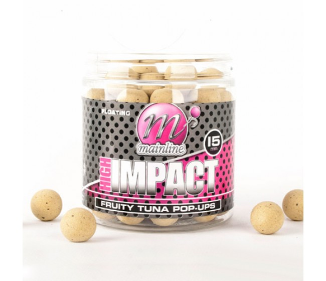 Плуващи топчета MAINLINE High Impact Pop Ups - Fruity Tuna 15mm | www.CARPMOJO.com