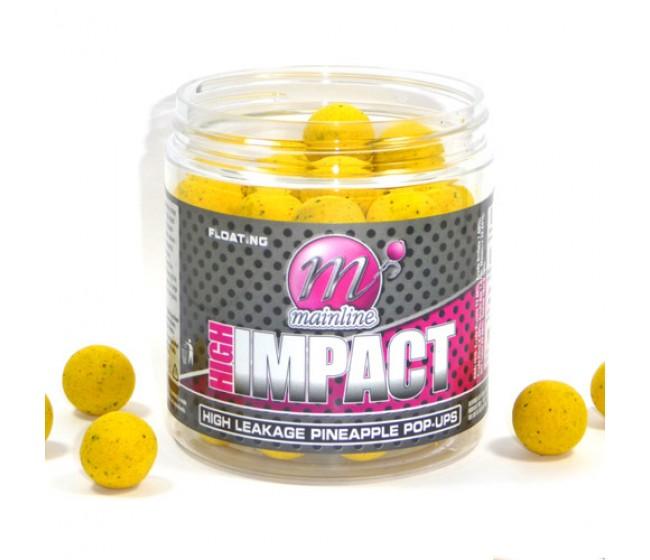 Плуващи топчета MAINLINE High Impact Pop Ups - H/L Pineapple 15mm | www.CARPMOJO.com