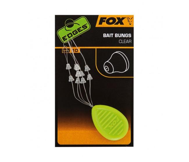 Стопер за стръв Fox Edges Bait Bungs Clear | www.CARPMOJO.com