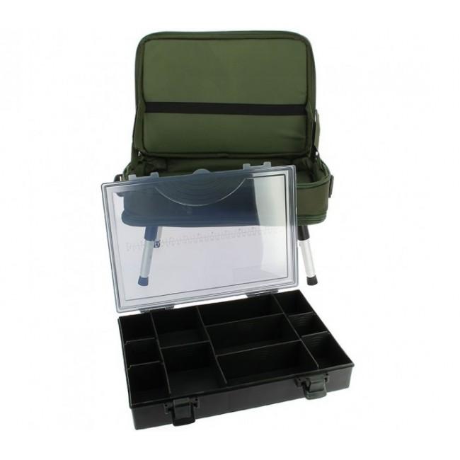 Комплект чанта с масичка NGT TWO TIER BOX CASE | www.CARPMOJO.com