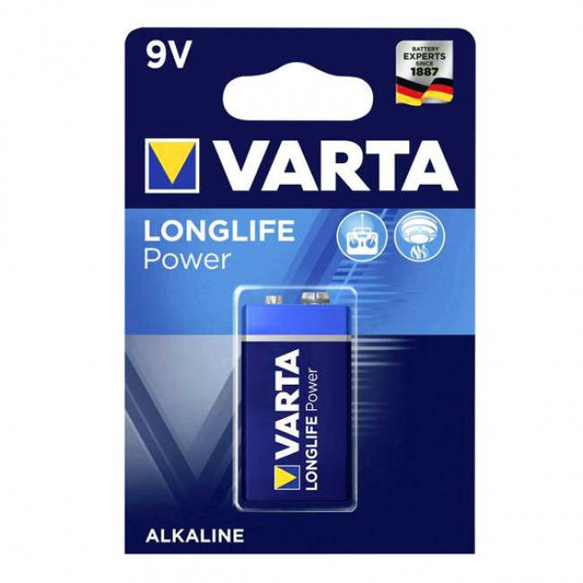 Батерия VARTA 9V high energy, 1 брой   www.CARPMOJO.com