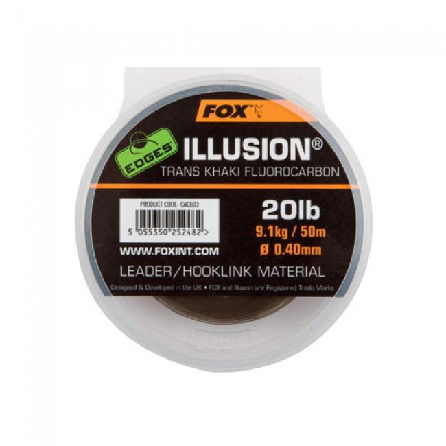 Флуорокарбон FOX Edges Illusion Leader, 50 m   www.CARPMOJO.com