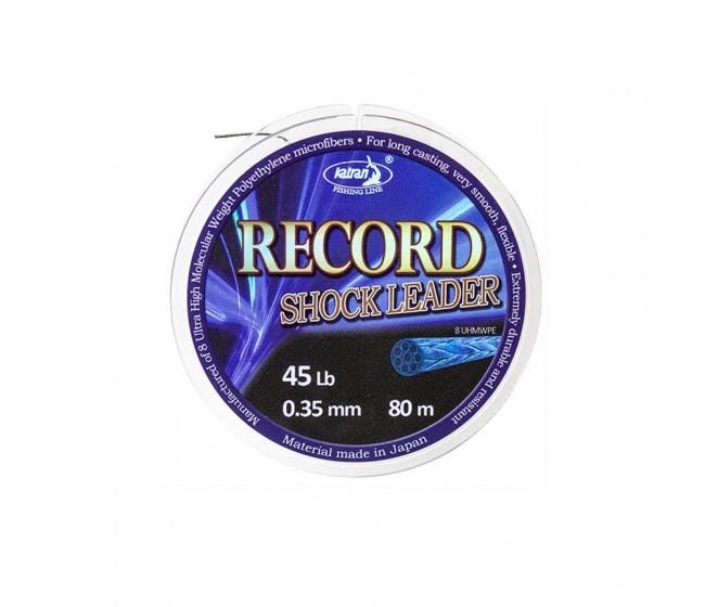 Плетен шок лидер KATRAN RECORD, 80 m | www.CARPMOJO.com