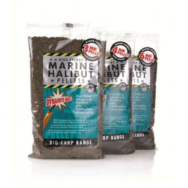 Пелети DYNAMITE Marine Halibut Pellets, 900 g | www.CARPMOJO.com