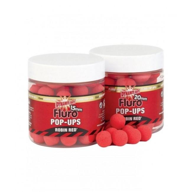 Плуващи топчета DYNAMITE Fluro Pop Ups & Dumbells Robin Red | www.CARPMOJO.com