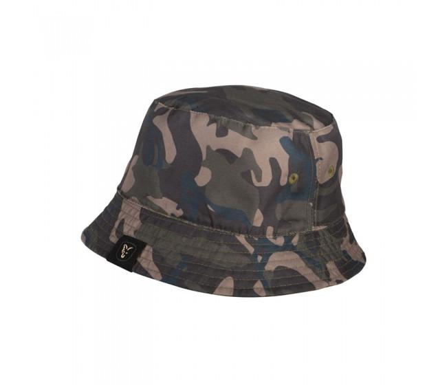 Двулицева шапка FOX Reversible Bucket Hat Khaki /Camo | www.CARPMOJO.com