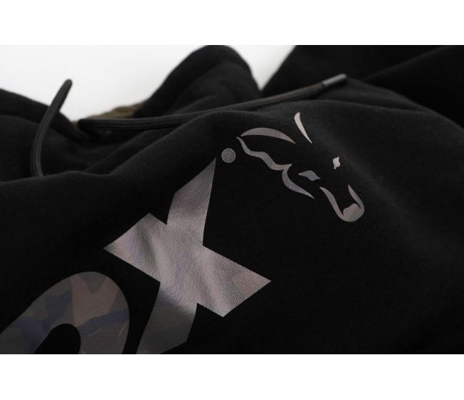 Суичър FOX BLACK/CAMO HOODY | www.CARPMOJO.com