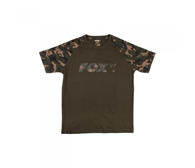 Тениска FOX CAMO/KHAKI Chest Print T-Shirt | www.CARPMOJO.com
