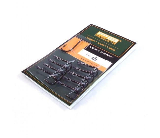 Куки PB Products Long Shank, 10 бр. | www.CARPMOJO.com
