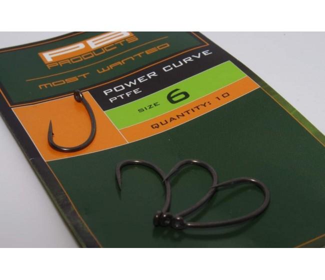 Куки PB Products Power Curve Hook, 10 бр. | www.CARPMOJO.com