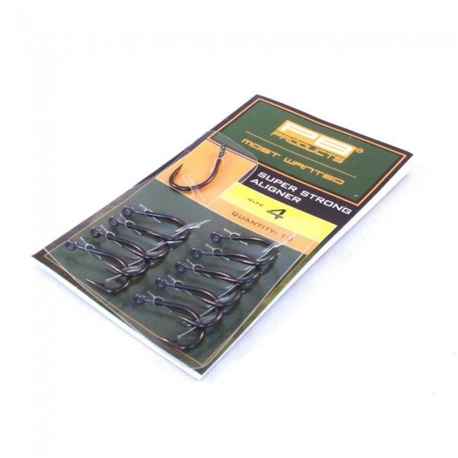 Куки PB Products Super Strong Aligner hook, 10 бр. | www.CARPMOJO.com