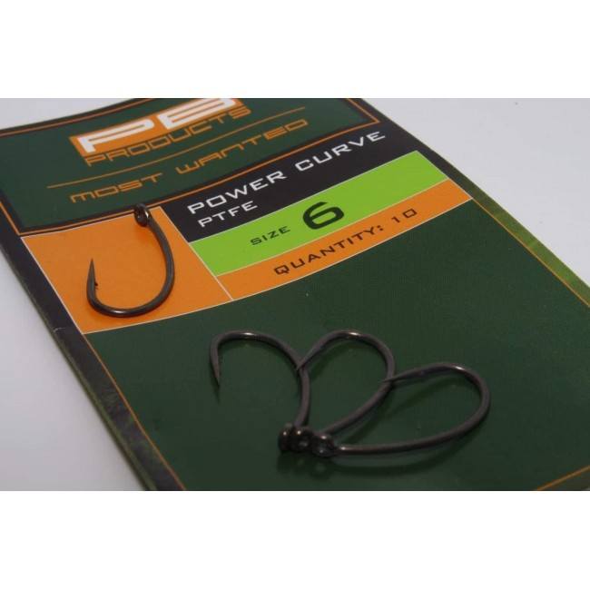 Куки PB Products Power Curve Hook, 10 бр. | www.CARPMOJO.com