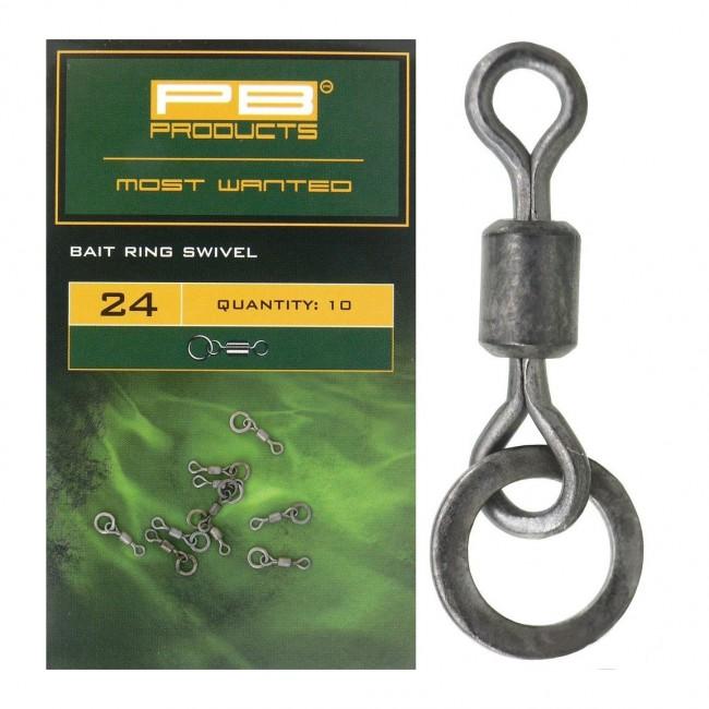 Микро вирбел PB Products Ring Bait Swivel 24, 10 бр. | www.CARPMOJO.com