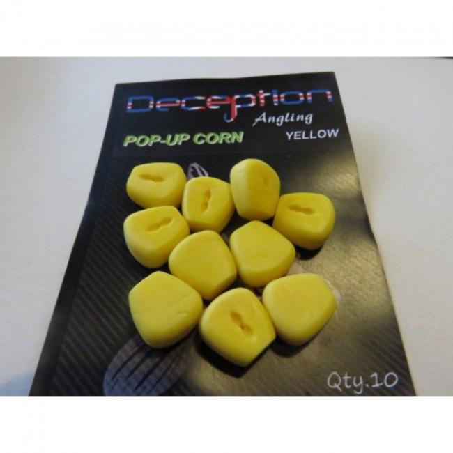 Силиконова царевица DECEPTION, 10 броя, жълта и розова | www.CARPMOJO.com