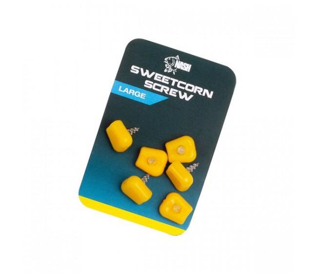 Силиконова царевица с винт NASH Sweetcorn Screw   www.CARPMOJO.com