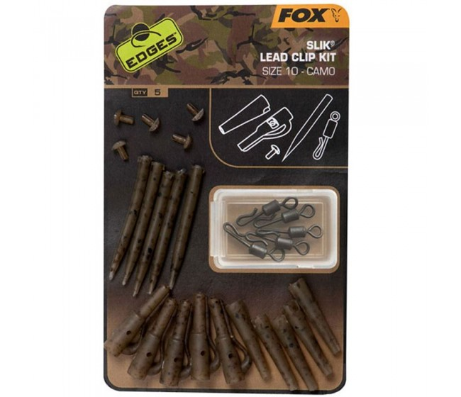 Комплект FOX Edges Camo Slik Lead Clip Kit Sz 10 | www.CARPMOJO.com