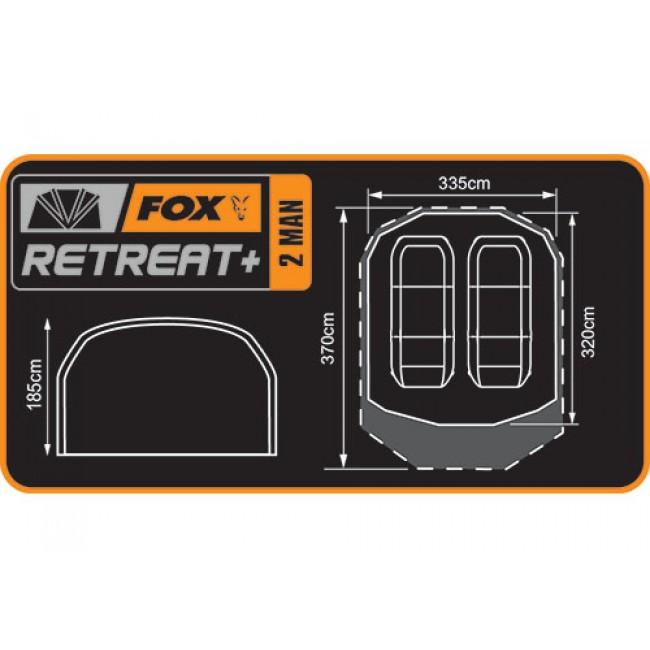 Палатка FOX RETREAT+ 2 MAN DOME | www.CARPMOJO.com