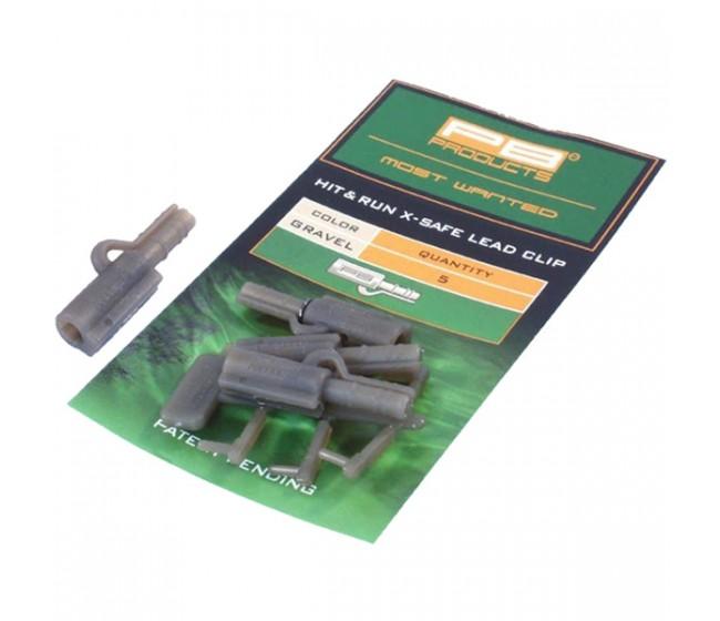 Клипсове за олово PB Products Hit & Run X-Safe Lead Clip, 5 бр. | www.CARPMOJO.com