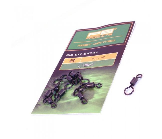 Вирбел PB products Big Eye Swivel 8, 10 бр. | www.CARPMOJO.com