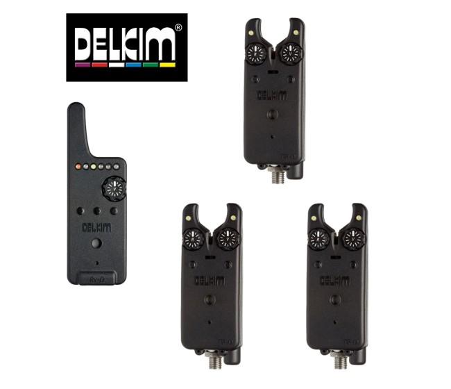 Сигнализатори 3+1 DELKIM TXI-D + RX-D централа | www.CARPMOJO.com