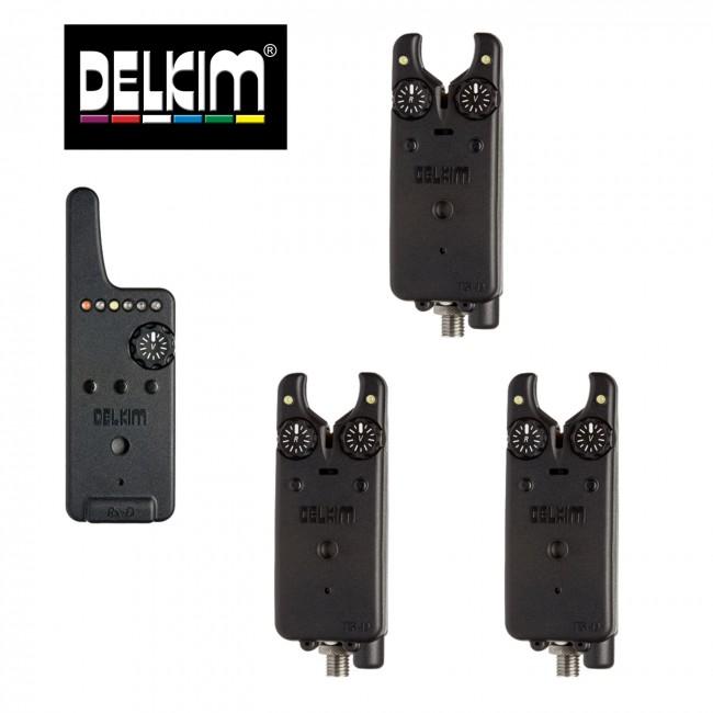 Сигнализатори 3+1 DELKIM TXI-D + RX-D централа   www.CARPMOJO.com