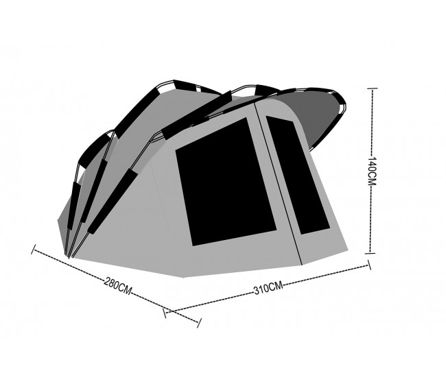 Палатка Anaconda Dawn Breaker II   www.CARPMOJO.com