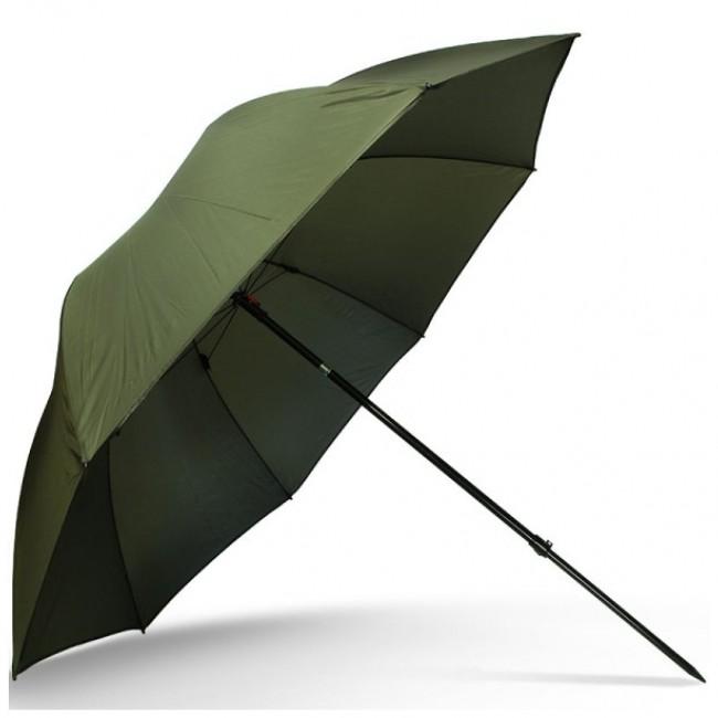 "Чадър NGT 50"" STANDARD GREEN BROLLY   www.CARPMOJO.com"