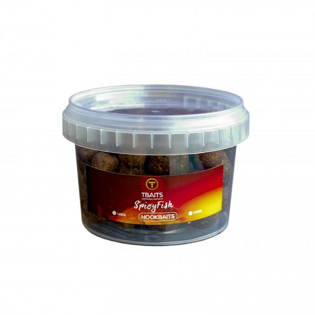 Топчета за стръв T-BAITS Spicy Fish, микс 14/20 mm | www.CARPMOJO.com