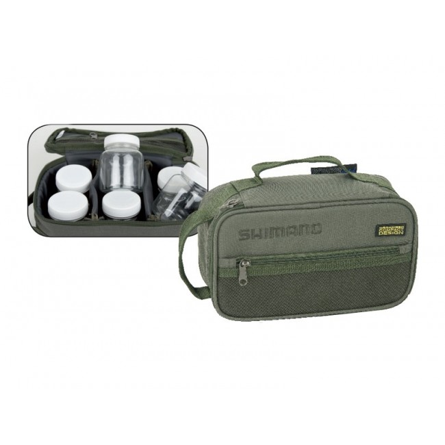 Чанта с бурканчета SHIMANO Glug and Hookbait Case | www.CARPMOJO.com