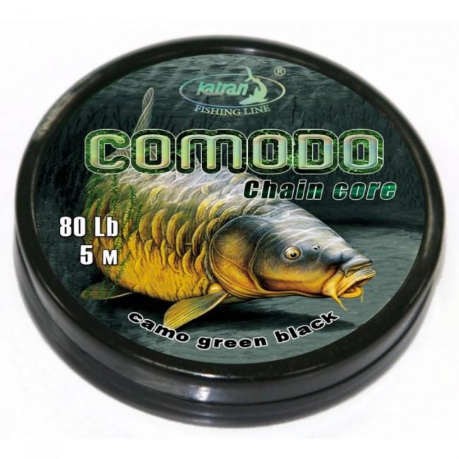 Ледкор (чейнкор) KATRAN COMODO, 80 lb, 5 m, зелено | www.CARPMOJO.com