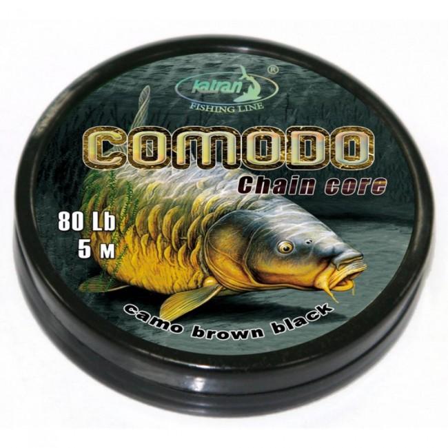 Ледкор (чейнкор) KATRAN COMODO,80 lb, 5 m, кафяво   www.CARPMOJO.com