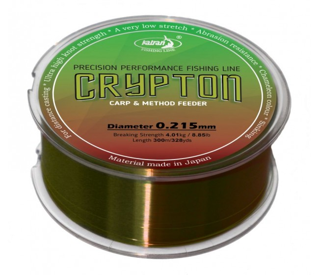 Монофилно влакно KATRAN CRYPTON, 300 m | www.CARPMOJO.com