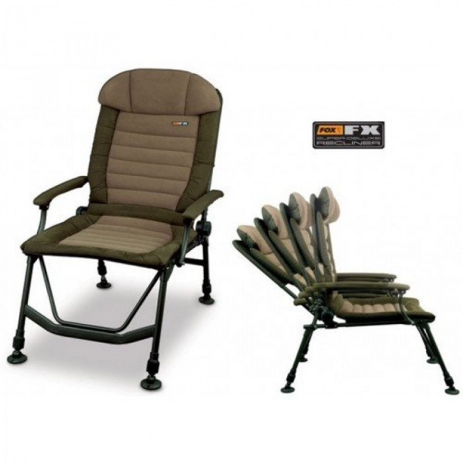 Шаранджийски стол FOX FX Super Deluxe Recliner | www.CARPMOJO.com