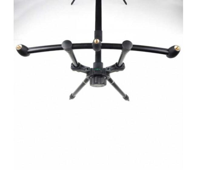 Шаранджийска стойка ANACONDA Bent Hopper Pod, за 3 въдици | www.CARPMOJO.com