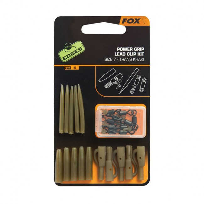 Комплект клипсове за олово FOX Edges Surefit Lead Clip kit, 5 комплекта, размер 7 | www.CARPMOJO.com