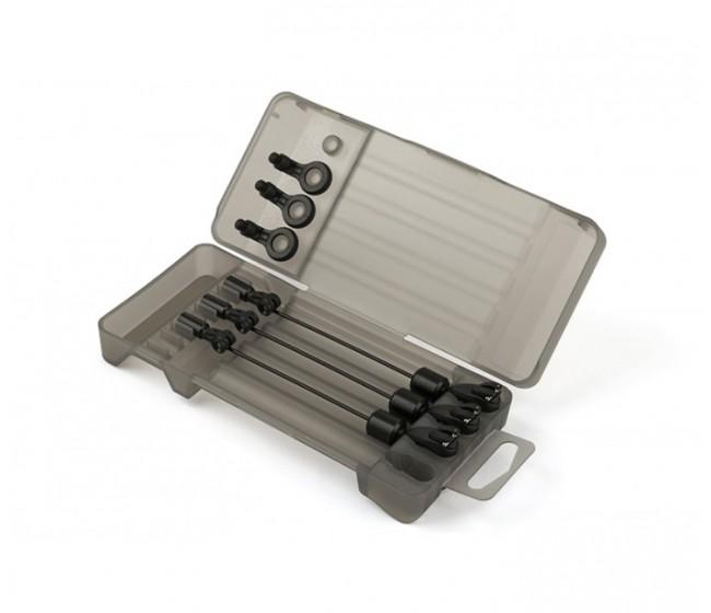 Комплект обтегачи FOX BLACK LABEL mini swinger 3 ROD SET - BLACK | www.CARPMOJO.com