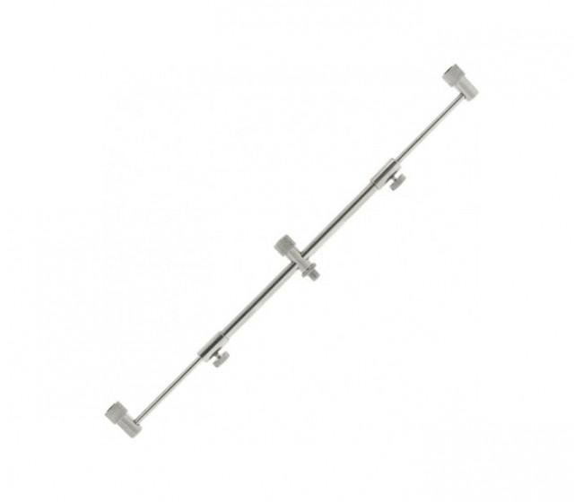 Бъз бар за 3 въдици, телескопичен, неръждаем, 25-40 cm   www.CARPMOJO.com