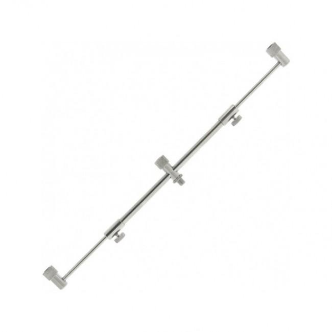 Бъз бар за 3 въдици, телескопичен, неръждаем, 25-40 cm | www.CARPMOJO.com