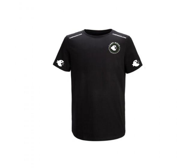 Черна тениска CARP MOJO | www.CARPMOJO.com