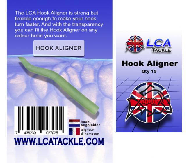 Алайнери LCA Hook Aligner Transparent green, 15 броя, прозрачно зелени | www.CARPMOJO.com