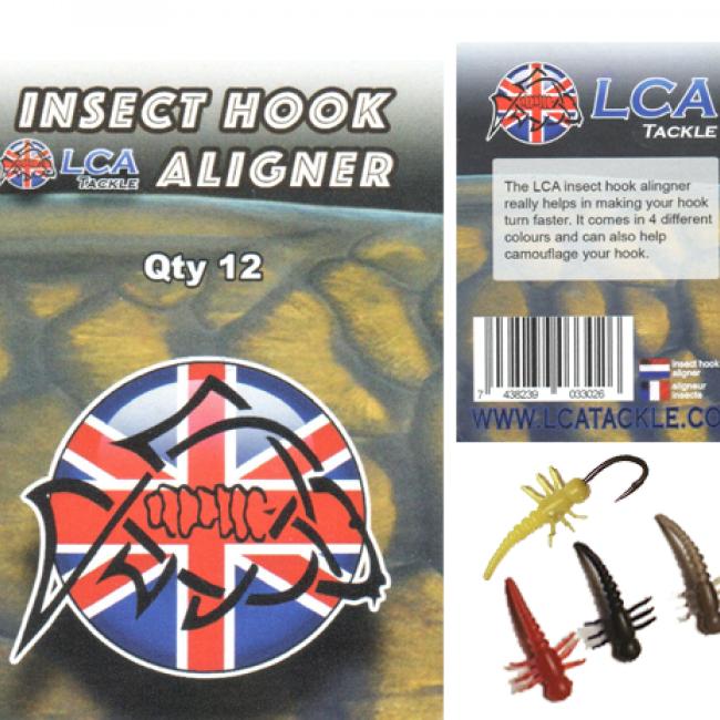 Алайнери за кука LCA, 12 броя, форма на насекомо | www.CARPMOJO.com