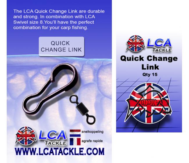 Бърза връзка LCA Quick Change Link, 15 броя   www.CARPMOJO.com