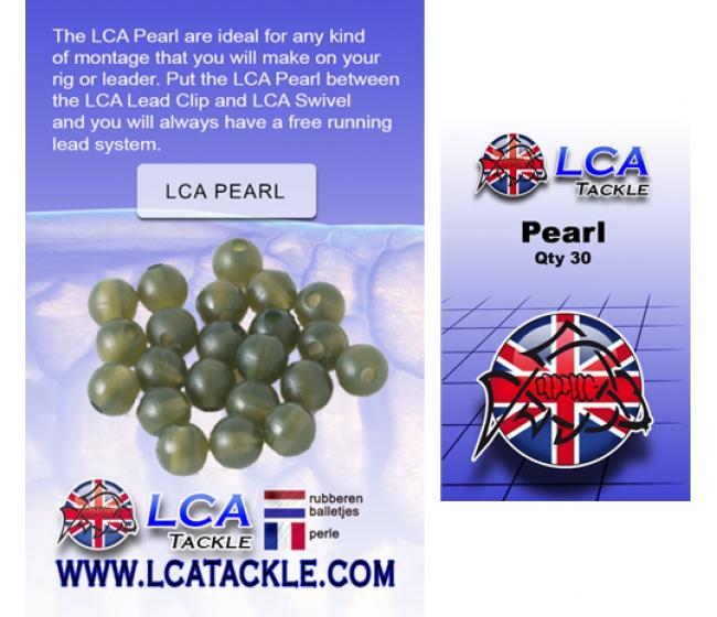 Гумени буфери LCA Pearl transparent green, 30 броя   www.CARPMOJO.com