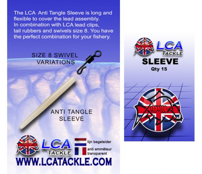 Противооплитащ шлаух LCA Anti Tangle Sleeves, 15 броя, прозрачно кафяв | www.CARPMOJO.com