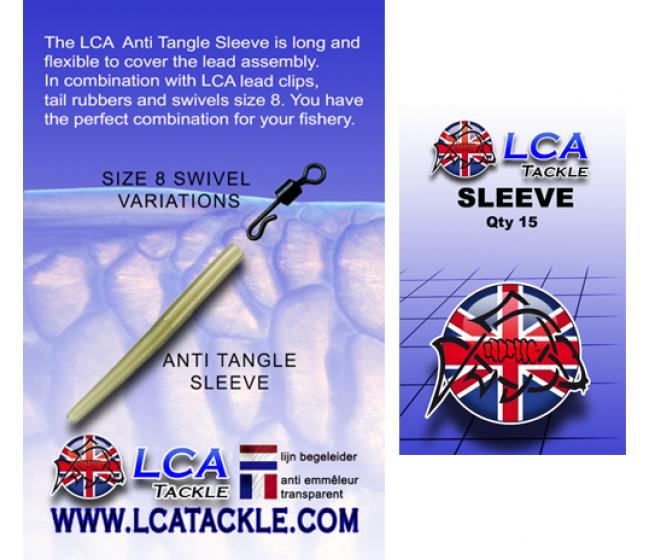 Противооплитащ шлаух LCA Anti Tangle Sleeves, 15 броя, прозрачно зелен   www.CARPMOJO.com