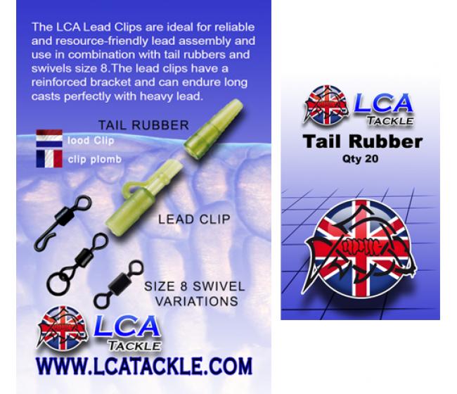 Шлаух за клипс LCA Lead Clip Transparent brown 20 броя, прозрачно зелени | www.CARPMOJO.com