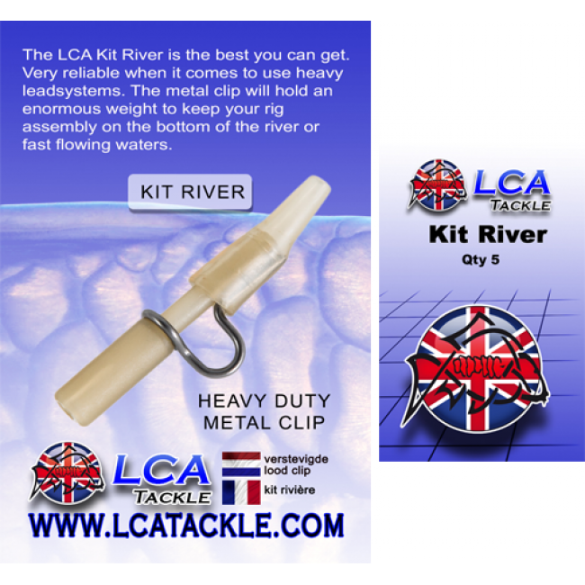 Усилен клипс за олово LCA, 5 броя, прозрачно кафяви | www.CARPMOJO.com