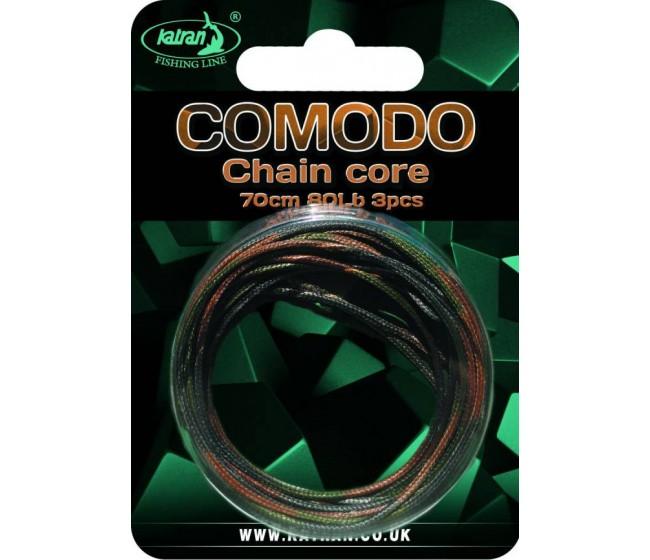 Ледкор (чейнкор) KATRAN COMODO, 3 броя по 70 cm, зелен цвят | www.CARPMOJO.com